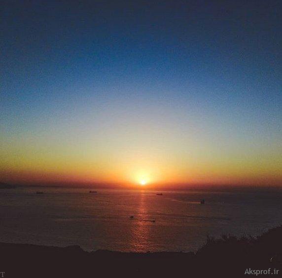 عکس غروب آفتاب غمگین
