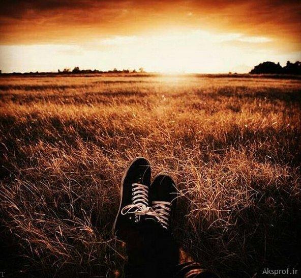 عکس غروب آفتاب غمگین خفن