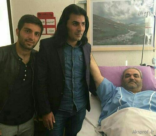 جواد خیابانی در بیمارستان بعد عمل جراحی