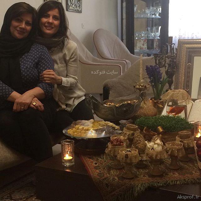 عکس سارا بهرامی با مادرش