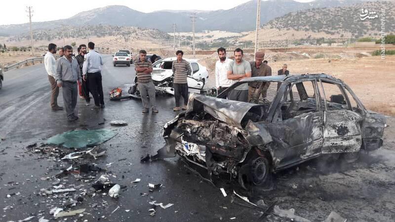 عکس تصادف وحشتناک خودرو پراید با پژو ۲۰۶